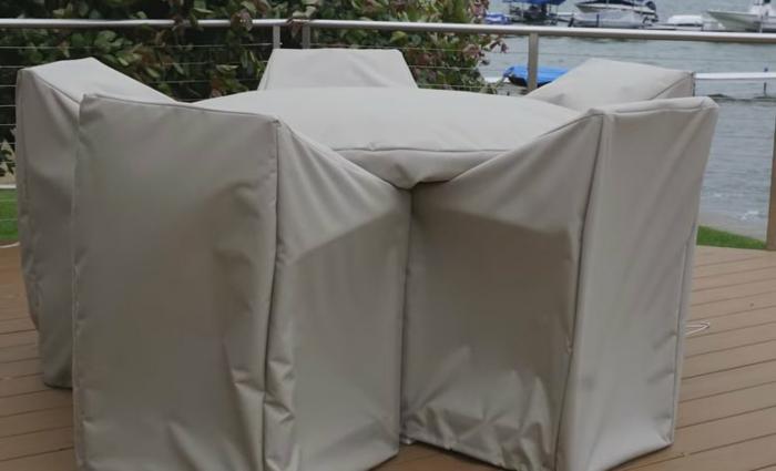 Schutzhülle für Gartenmöbel tscih komplett