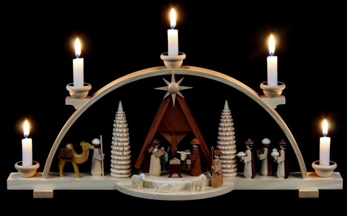 Schwibbogen Christi Geburt Weihnachtsdekoration Online Shop Weihnachtsdeko  Aus Holz