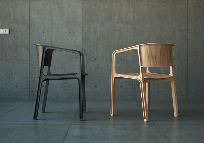 Sperrholz platten biegsam designer stuhl