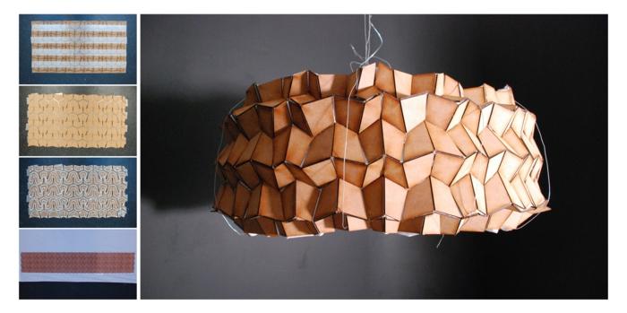 Sperrholz platten stuhl design leuchtobjekt
