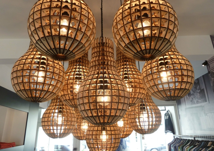 Sperrholz platten stuhl design produkt leuchtobjekt