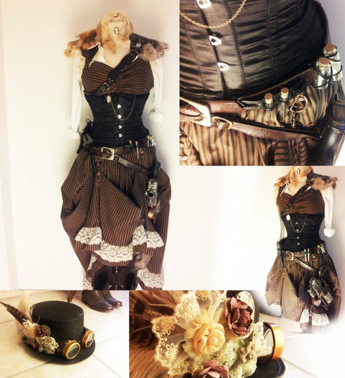 Steam punk Kleid details