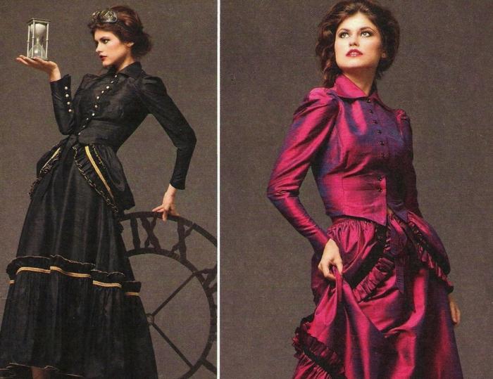 steampunk kleid viktorianische extravaganz. Black Bedroom Furniture Sets. Home Design Ideas