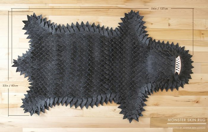 Monster carpet without animal cruelty