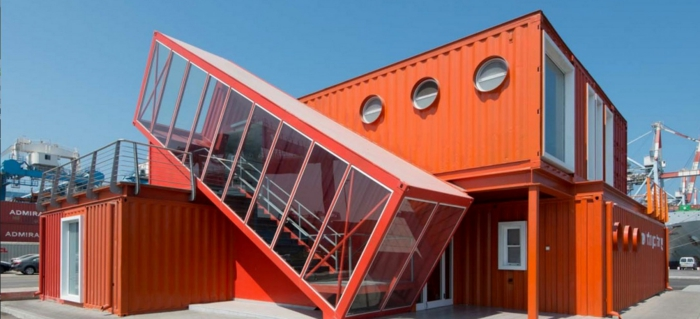 Traumhaus container orange