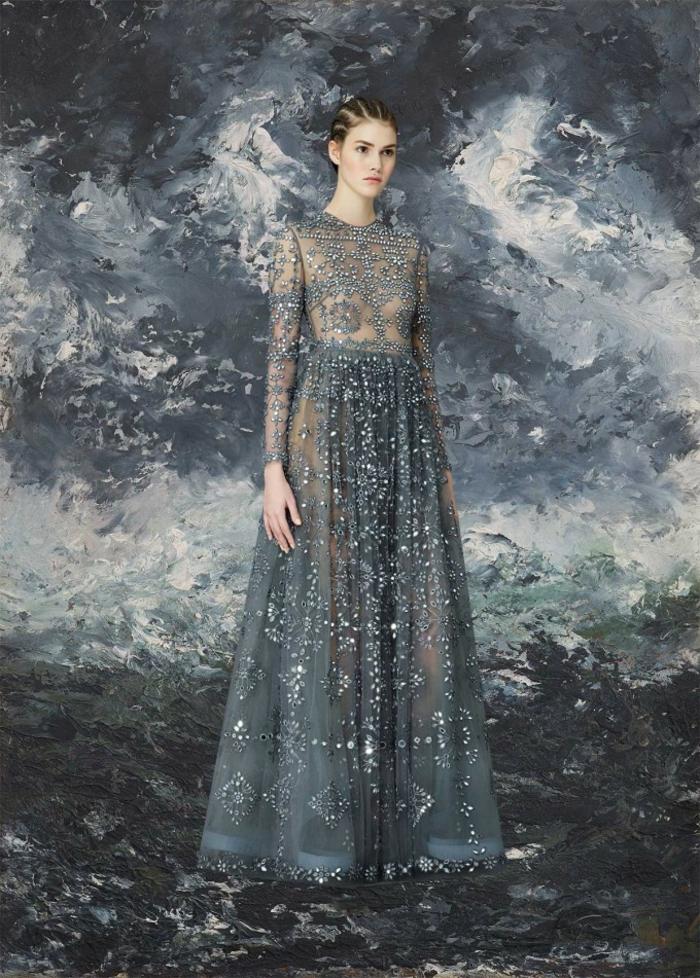 Valentino Kleider silber