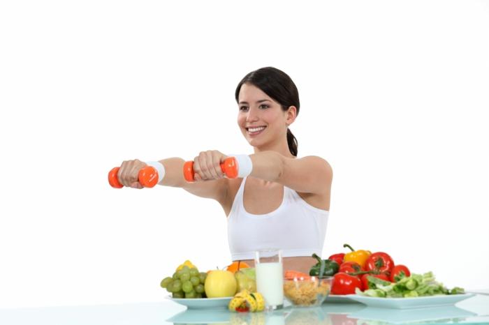 abnehmen ohne sport und diät leichte übungen gesunde ernährung