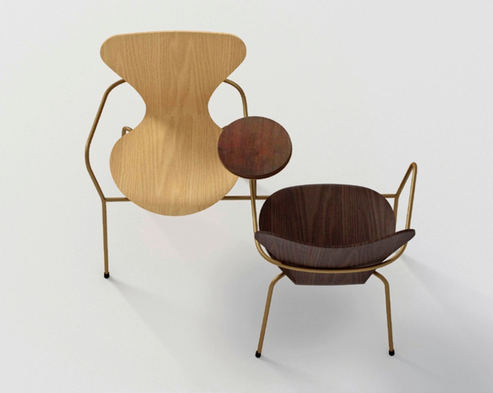 Arne Jacobsen Stuhl Der Serie 7 Neu Interpretiert