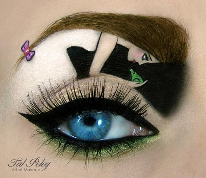 augen schminke maskenbildnerin Tal Peleg der froschkönig