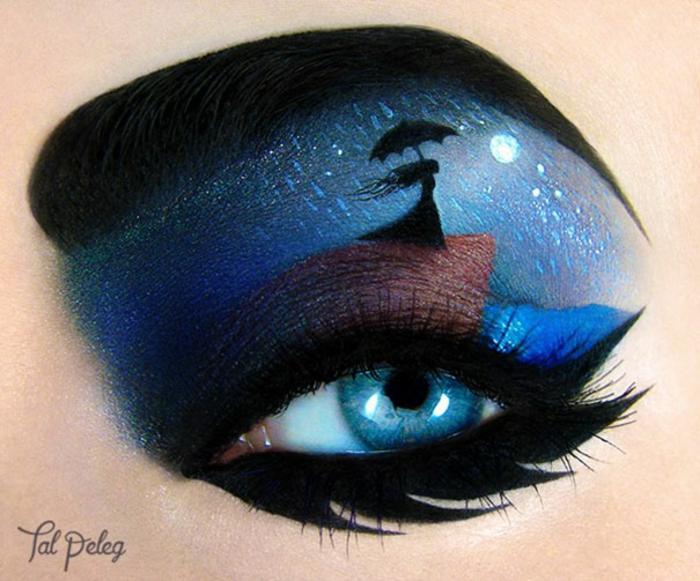 augen schminke maskenbildnerin Tal Peleg regen bei vollmund