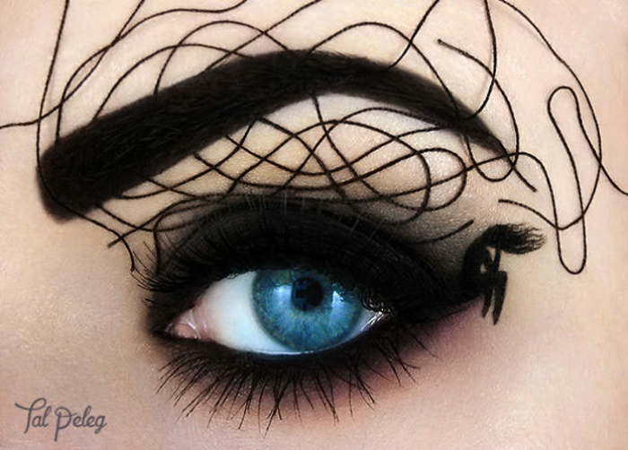augen schminke maskenbildnerin Tal Peleg trauriges mädchen schwarz