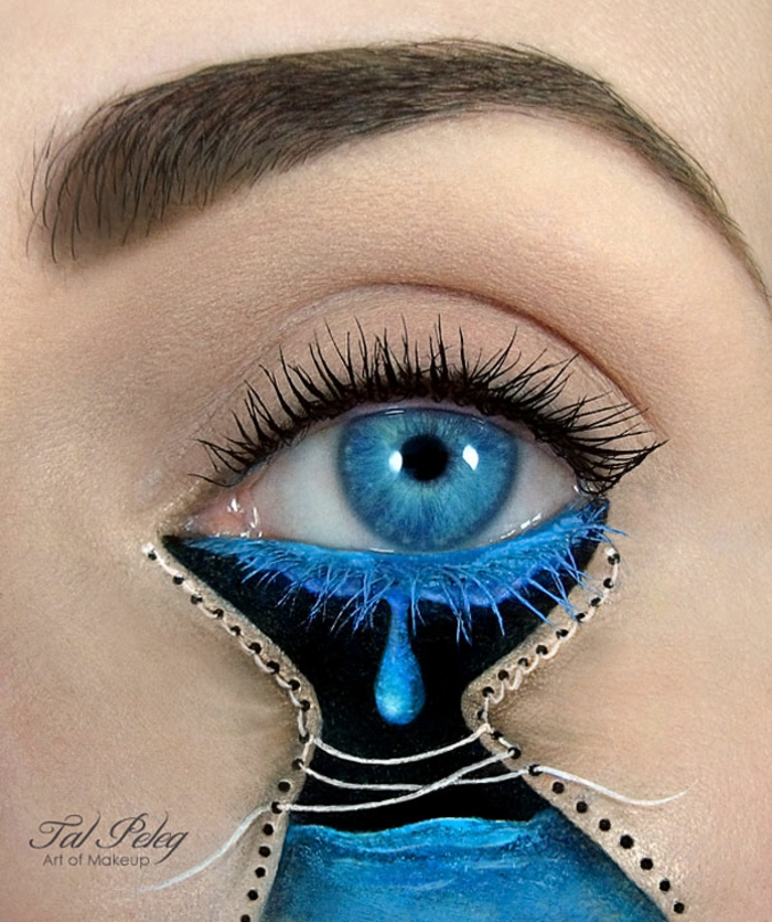 augen schminke maskenbildnerin Tal Peleg weinen