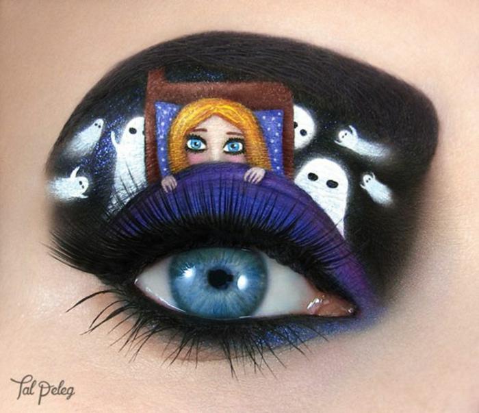 augen schminken maskenbildnerin Tal Peleg angst vor gespenster