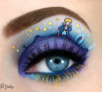 Augen schminken: Maskenbildnerin Tal Peleg benutzt das Augenlid als Leinwand
