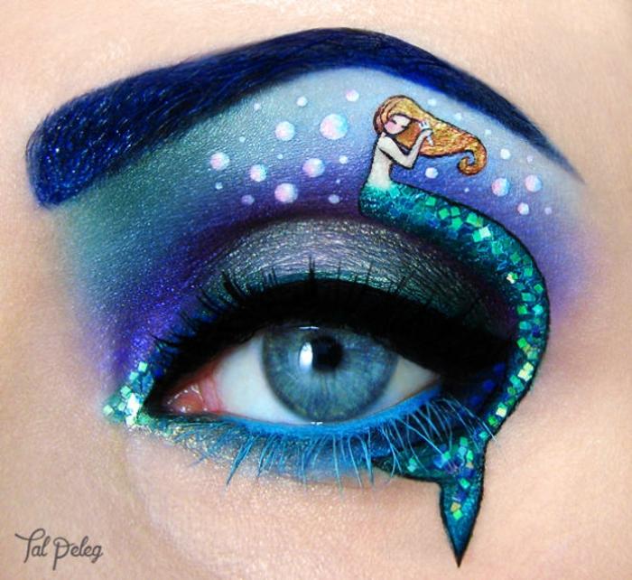 augen schminken maskenbildnerin Tal Peleg die kleine meerjungfrau