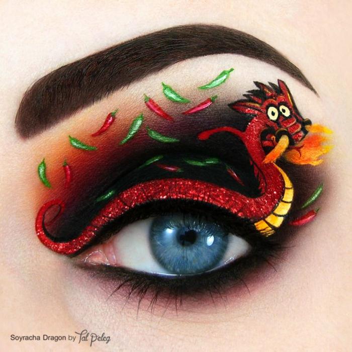 augen schminken maskenbildnerin Tal Peleg dragon