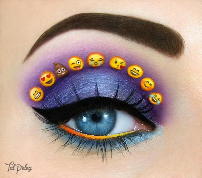 augen schminken maskenbildnerin Tal Peleg gefühlssymbole