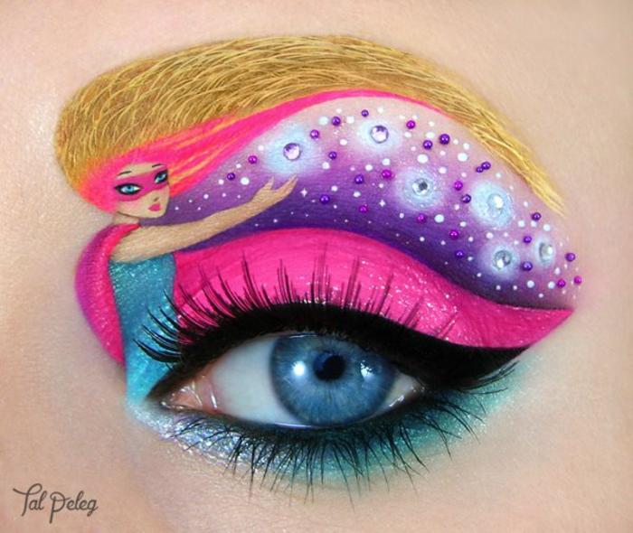augen schminken maskenbildnerin Tal Peleg künstlerischer make up