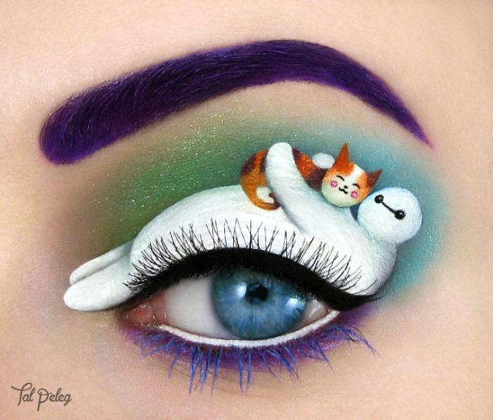 augen schminken maskenbildnerin Tal Peleg katze und freund