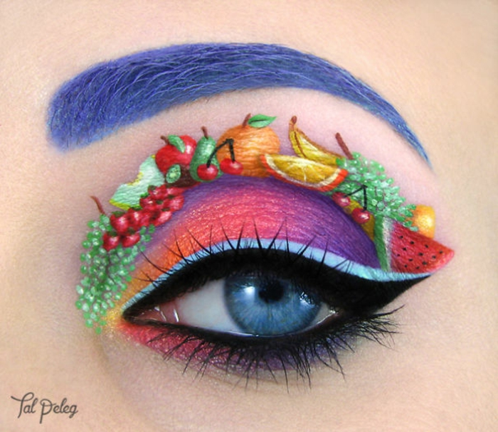 augen schminken maskenbildnerin Tal Peleg obst und gemüse