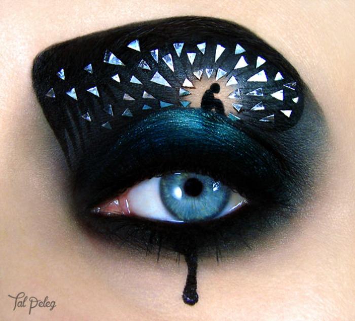 augen schminken maskenbildnerin Tal Peleg traurigkeit