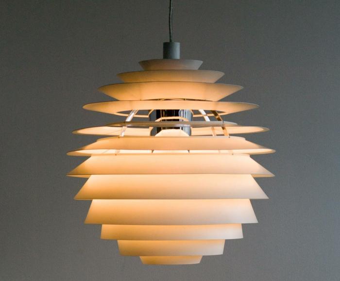 ausgefallene lampen Paul Henningsen modell louvre