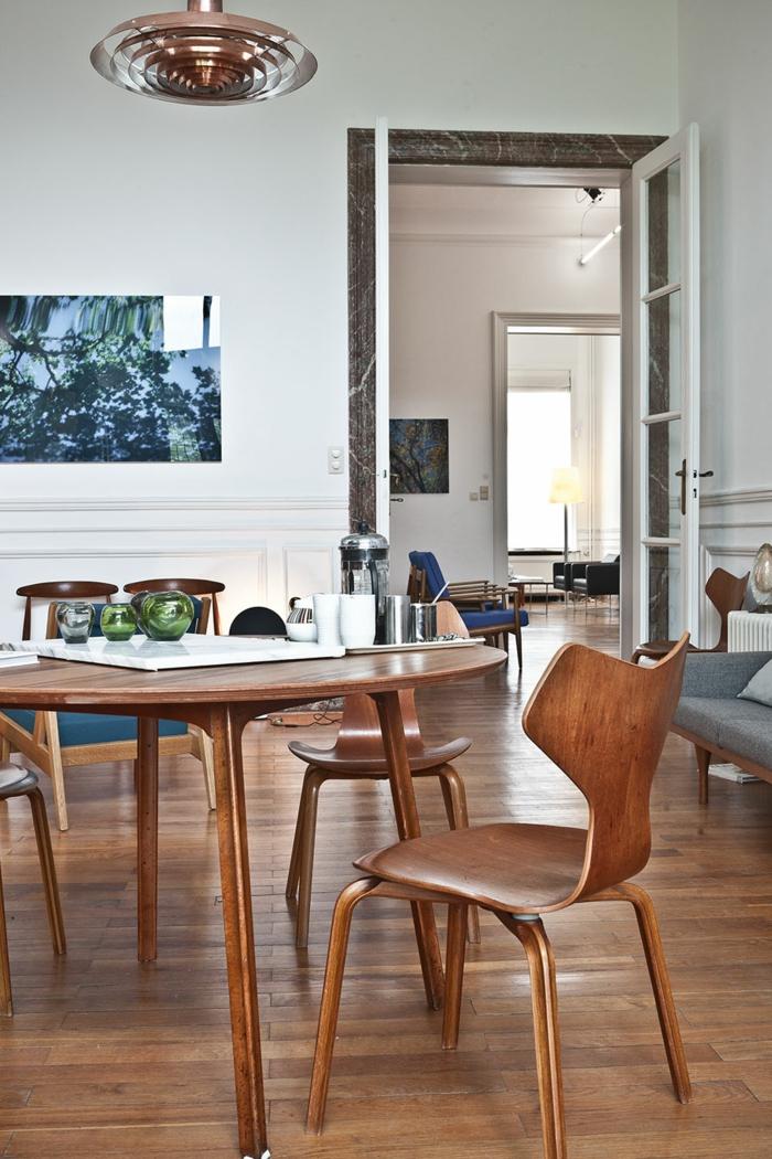 ausgefallene lampen Paul Henningsen pendelleuchte tallerken arne jacobsen küchenmöbel