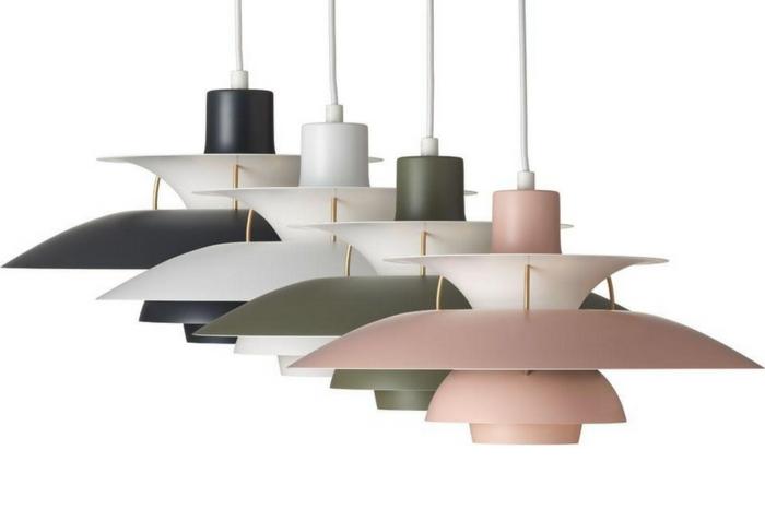 ausgefallene lampen Paul Henningsen ph5 modelle farben