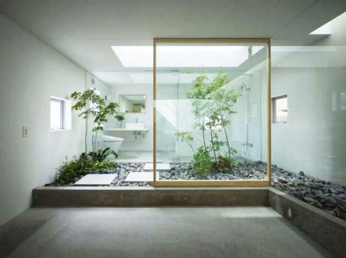 badeinrichtung japanisch feng shui innengarten