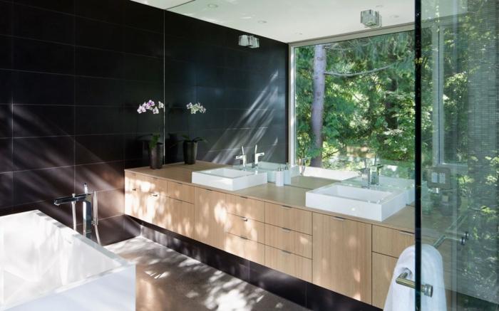 badeinrichtung japanisch minimalismus spiegel