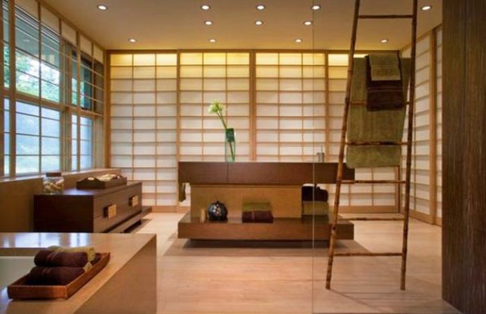 badeinrichtung japanischer fernöstliches design minimalistischer stil