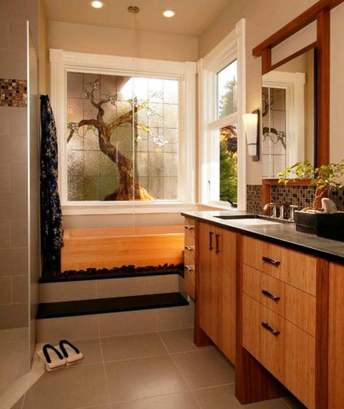 badeinrichtung minimalistisch japanischer stil