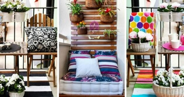 balkon-dekoideen-bunte-textilien-teppiche-decken