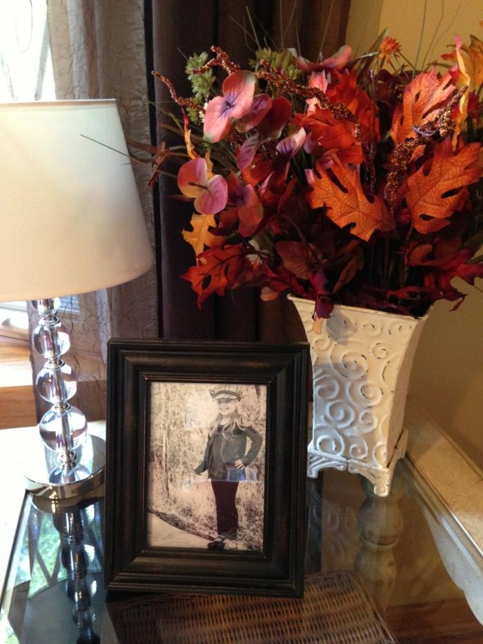bastelideen herbst dekoideen herbstblumen vase