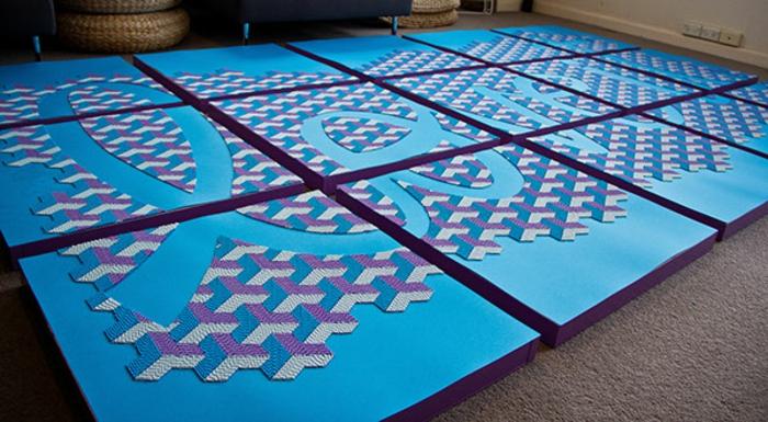 basteln mit papierstreifen damit berzeugt die k nstlerin gunjan aylawadi. Black Bedroom Furniture Sets. Home Design Ideas