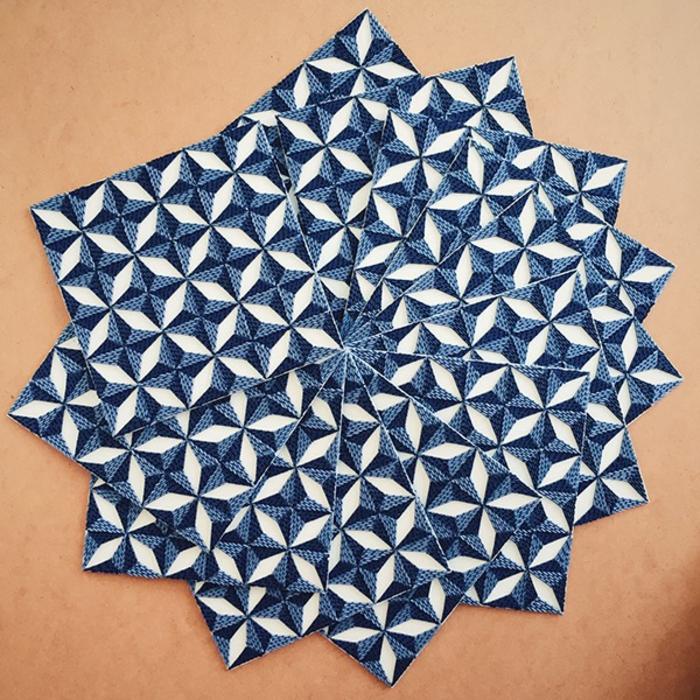 basteln mit papierstreifen künstlerin Gunjan Aylawadi detail