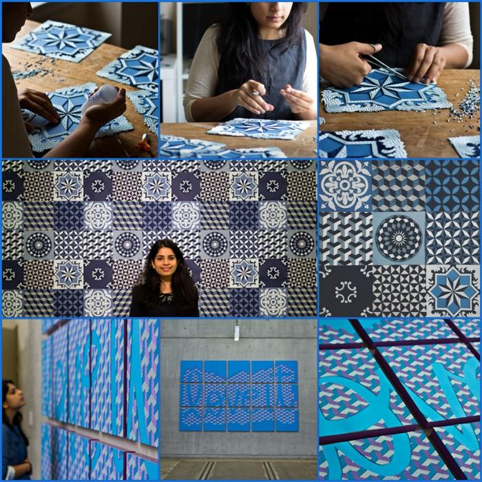 basteln mit papierstreifen künstlerin Gunjan Aylawadi und ihre projekte
