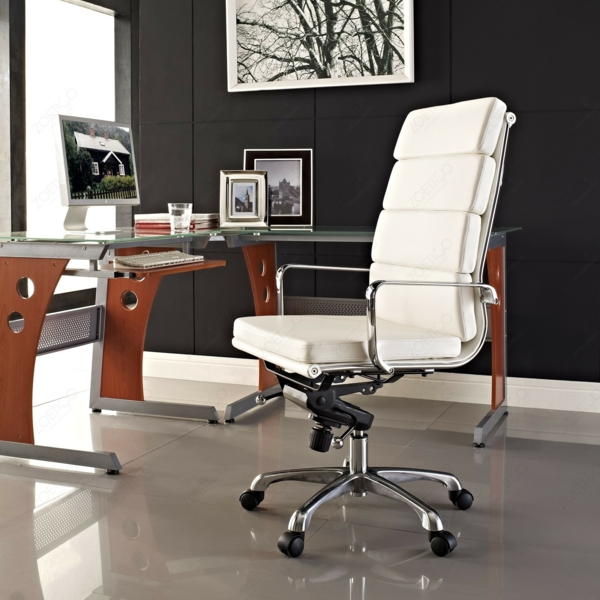 bauhaus stil bürostuhl weiß eames