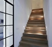 Treppenhausbeleuchtung moderne treppenhausbeleuchtung  Beleuchtung Treppenhaus lässt die Treppe unglaublich schön erscheinen