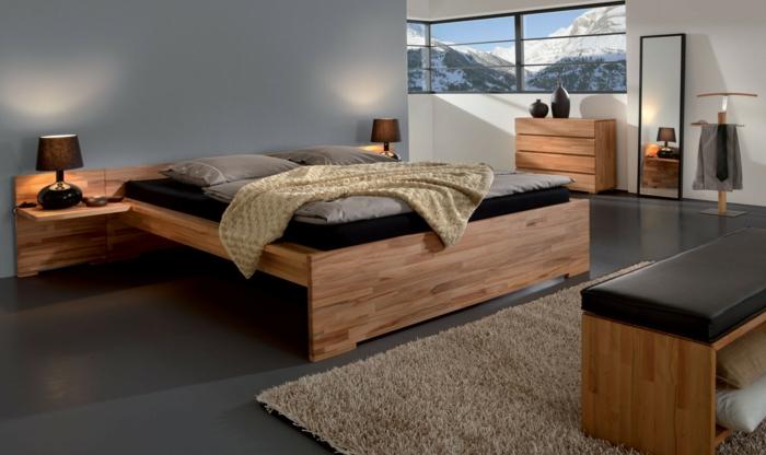 Designer Betten Aus Holz ~ Holzbett in modernem Design
