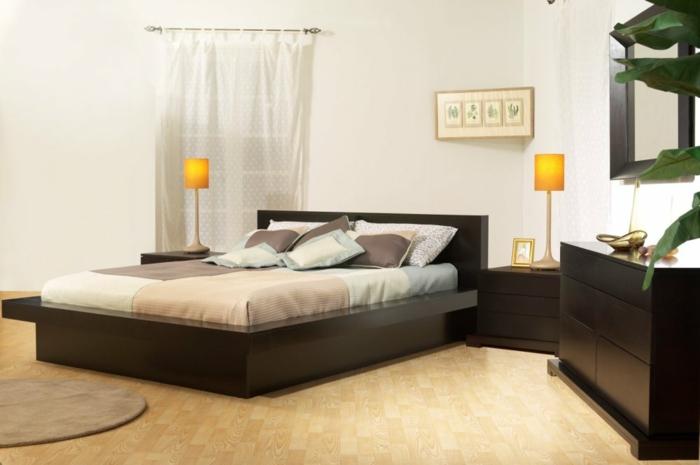 betten design schlafzimmer einrichten lange gardinen