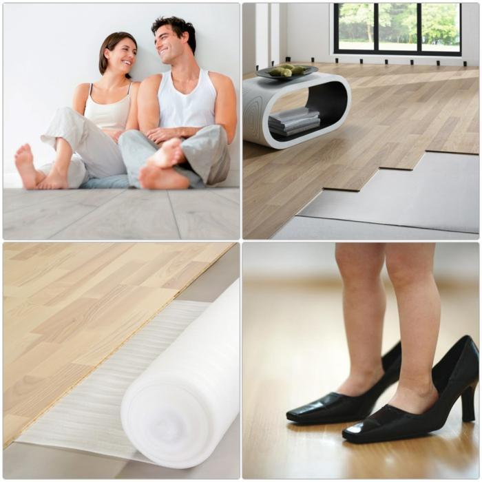 bodenbelag laminatboden verlegen vorteile der trittschall dämmung