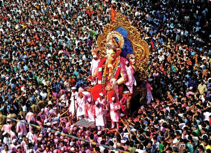 bombay indien mumbai ganesh utsav festival