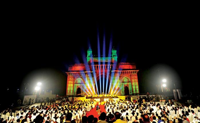 bombay indien mumbai tor licht festivale