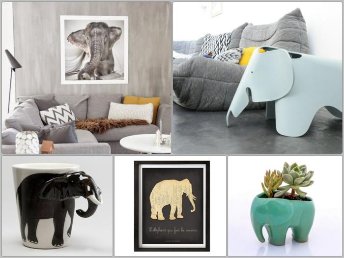 dekorieren und kreativ gestalten mit elefanten figuren
