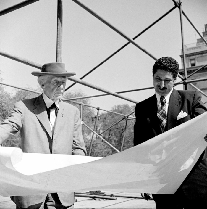 der große architekt Frank Lloyd Wright