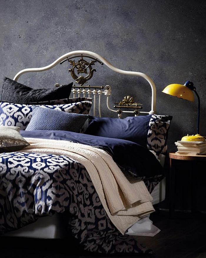 design betten schöne bettwäsche schlafzimmer männliche ausstrahlung
