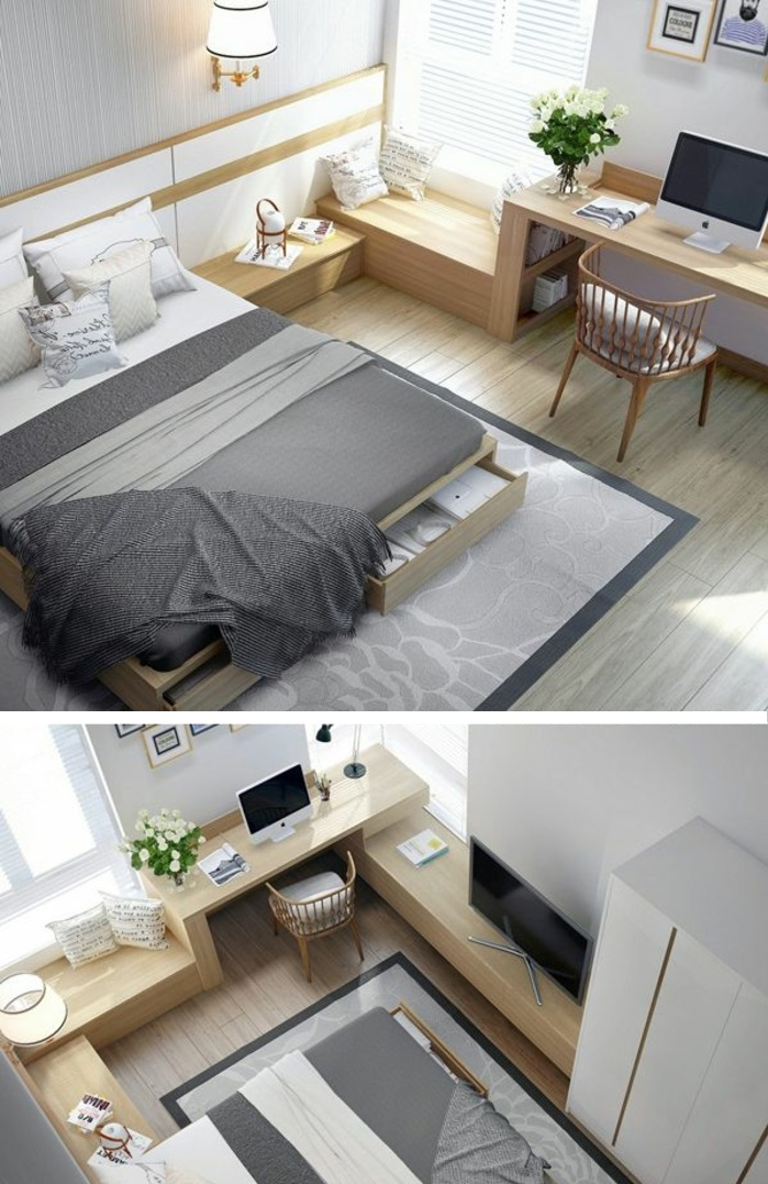 design betten komfortables bett schlafzimmer möbel holz