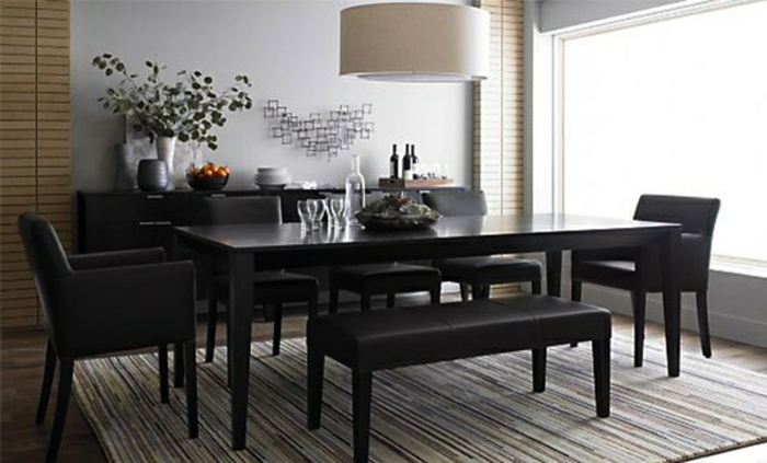 schwarzer esszimmertisch m belideen. Black Bedroom Furniture Sets. Home Design Ideas