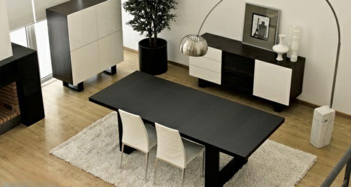 designer esstisch in schwarz klassisches modell